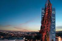 """Tháp """"tàu đắm"""" sẽ trở thành tòa nhà cao nhất thủ đô Cộng hòa Czech"""