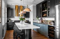 Không gian nấu nướng sang chảnh trong phòng bếp kiểu Nga