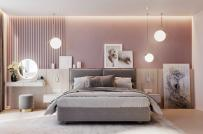 Làm ấm phòng ngủ mùa đông với sắc hồng pastel dịu ngọt