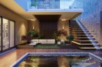 Nhà phố sang trọng với hồ bơi thư giãn ở tầng trệt