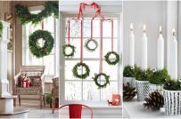Cách trang trí cửa sổ đón Noel cực đơn giản