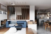 Ngôi nhà kết hợp ăn ý phong cách nội thất tối giản và sang trọng