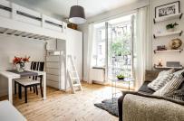 Không gian sống đẹp mộng mơ trong căn hộ 28m2 có gác xép