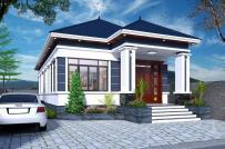 Tư vấn thiết kế nhà cấp 4 diện tích 8x10m, kinh phí dưới 600 triệu đồng