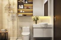 Cách nào giúp phòng tắm nhỏ luôn thoáng gọn?