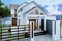 Thiết kế nhà cấp 4 mái Thái có gác lửng tiết kiệm chi phí cho gia đình trẻ