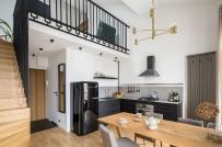 Thiết kế nội thất thông minh trong căn hộ 52m2 có gác lửng