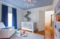 Giấy dán trần: Xu hướng mới, độc đáo trong trang trí phòng ngủ của trẻ
