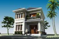Thiết kế biệt thự 2 tầng phong cách tân cổ điển cho gia đình 5 người