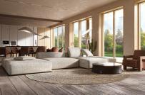 Thiết kế nội thất màu nâu ấm áp, sang trọng cho ngôi nhà hiện đại