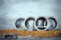 Nhà nghỉ dưỡng như logo thương hiệu xe hơi Audi
