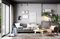 3 cách phối màu xám tinh tế cho phòng khách