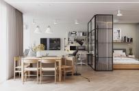 Căn hộ 59m2 với thiết kế nội thất