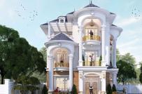 Tư vấn thiết kế biệt thự 3 tầng phong cách tân cổ điển, diện tích 200m2
