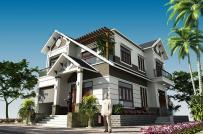 Tư vấn thiết kế biệt thự 2 tầng mái Thái 4 phòng ngủ đẹp