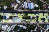Trường học liên cấp ấn tượng, nằm giữa hai đại lộ