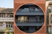 Nhà phố Ấn Độ với mặt tiền vòng tròn ấn tượng