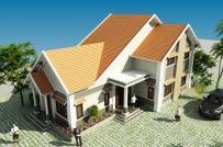 Thiết kế nhà vườn 2 tầng mái Thái tiện nghi, hợp phong thủy