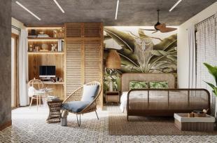 Mẫu phòng ngủ tông màu xanh lá tràn đầy năng lượng