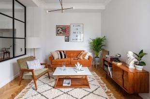 Không gian sống ấm áp, thân thiện trong căn hộ 74m2