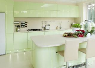 Những mẫu phòng bếp tuyệt đẹp với gam màu pastel