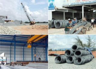 Một số mặt hàng vật liệu xây dựng giảm giá