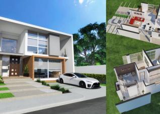 10 mẫu thiết kế biệt thự mini 2 tầng phong cách hiện đại, có cả chỗ để ô tô