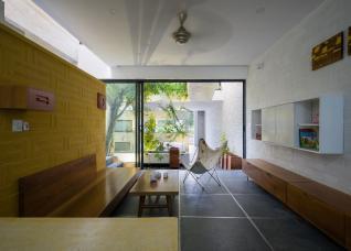 Ngôi nhà hòa quyện giữa kiến trúc Bắc Bộ và Tây Nam Bộ