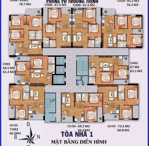 Bán chung cư Trường Thịnh- Chiết khấu 5- 12% 7590197