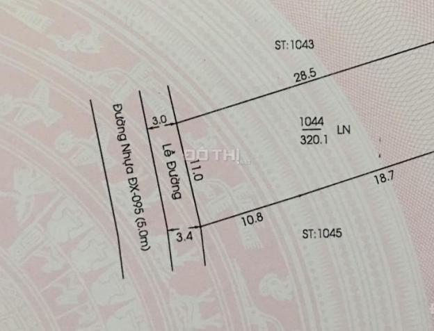 Đất mặt tiền đường nhựa ĐX-095 ngang 11m x 29m, giá 1,19 tỷ. LH 0987975975 7812529