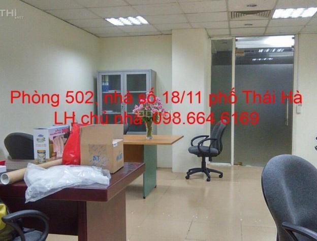Chủ nhà cho thuê 42m2 VP tại phố Thái Hà. Giá 11 triệu/tháng, LH 098.664.6169 6312266