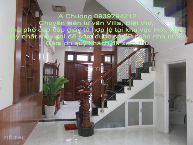 Villa cao cấp kiểu Pháp 5x20m, sân thượng đẹp, tặng nội thất, gần chợ Bà Điểm 5345224