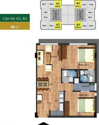 Căn hộ Sài Gòn Town 2PN, 2WC nhận nhà ngay, còn 1 căn duy nhất giá 1.28 tỷ 7363524