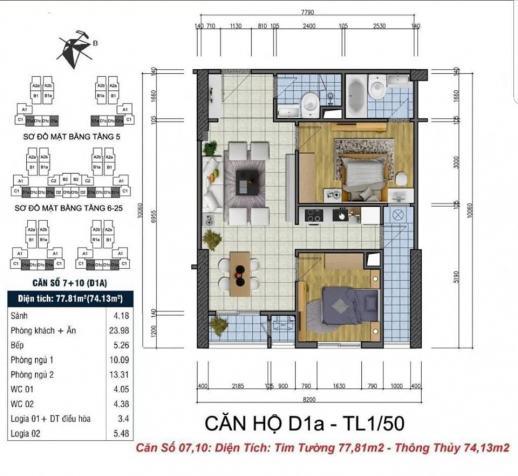 Tôi cần bán căn hộ 2PN, Goldsilk Complex 12417151