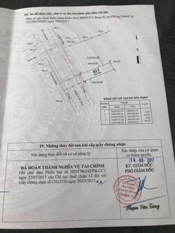 Bán đất mặt tiền đường Nguyễn Thị Sáu, phường Thành Lộc, Quận 12. DT 5x20m 12141135