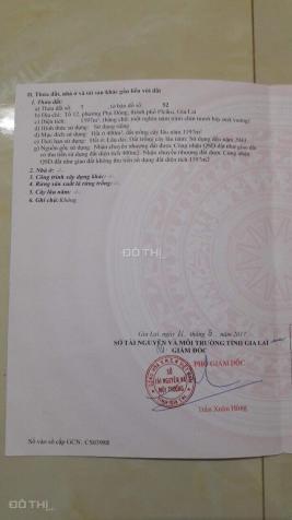 Cần bán lô đất DT lớn MT đường Ngô Thì Nhậm, Pleiku, có thể phân lô 12484184