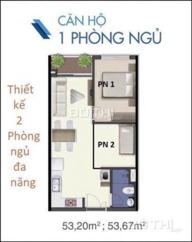 Chính chủ nhượng lại căn hộ Q7 SG Riverside Complex, DT 53,67m2 giá 1.6 tỷ 10652478