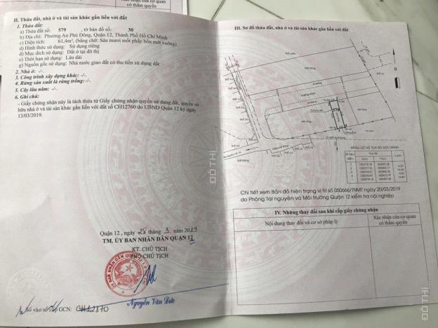 Bán đất giá mềm cho đầu tư đường An Phú Đông 10, Phường An Phú Đông, Q12. DT 62m2, giá 47 tr/m2 12576601