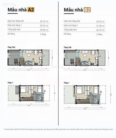 Nhà phố liền kề 1 trệt, 1 lầu khu công nghiệp Bình Hòa 12640997