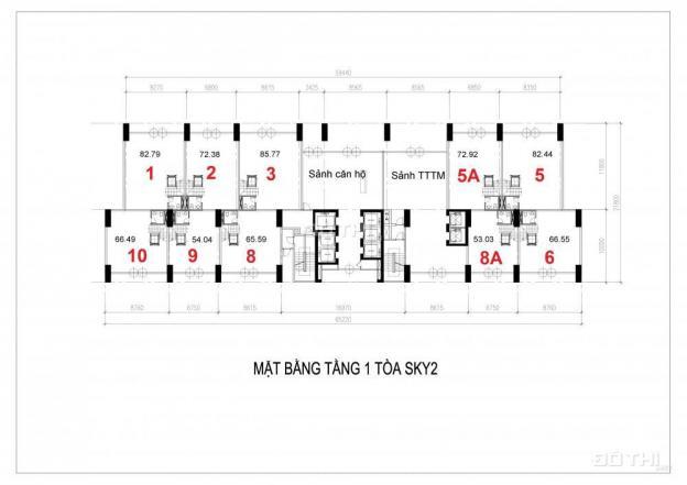 Bán shophouse thương mại Ciputra. DT 226.16m2 thông 3 tầng, MT 8m, HTLS 0%, giá trực tiếp CĐT 12651231