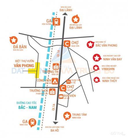 Nhanh tay sở hữu đất nền sổ đỏ duy nhất tại khu KT Vân Phong, chỉ từ 555 triệu/nền, 0906.094.196 12657361