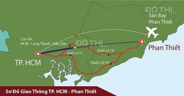 Bán đất sân bay Phan Thiết, đường 715, Bình Thuận, diện tích 1000m2, giá chỉ 650 triệu 12679160