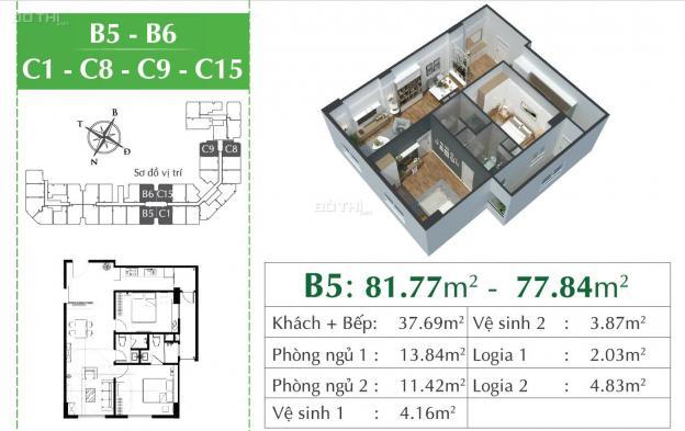 Bán gấp căn hộ 2PN dự án ECO CITY Việt Hưng, BC Đông Nam giá 1,751 tỷ chiết khấu 5%; HTLS 0% 12708425