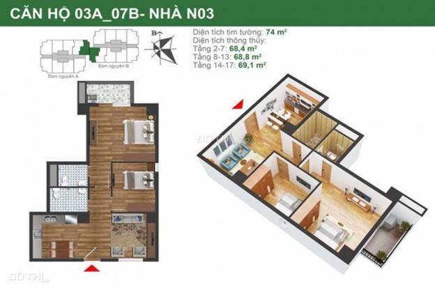 Bán căn hộ chung cư tại khu nhà ở Quân Đội K35 Tân Mai - Quận Hoàng Mai. Giá 24 tr/m2 12730011