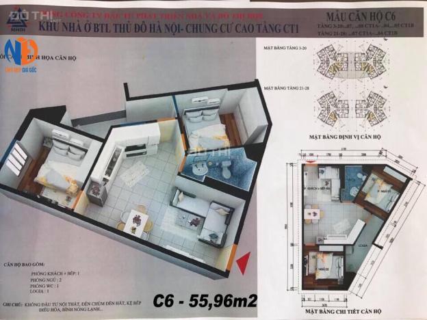 Chỉ 721tr bao các phí, bán nhanh căn hộ 55,96m2 trung tâm quận Hà Đông 12731138