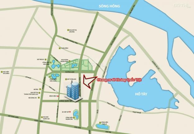 (0985764006 - Chị Hoàn) cần bán CC 60 Hoàng Quốc Việt, (T1806 - 100m2), giá 29tr/m2. Bao tên, có sổ 12791444
