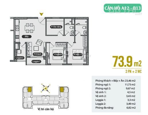 Sở hữu ngay CHCC trên mặt đường Tố Hữu với giá chỉ từ 1,6 tỷ, hoàn thiện nội thất liền tường 12842615