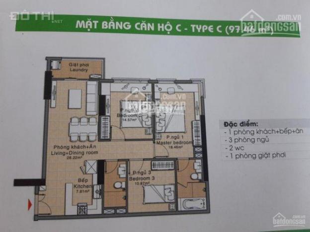 Bán căn hộ khu chung cư Era Town Đức Khải 3PN, 3WC, 97m2, giá 1 tỷ 900tr. Liên hệ 0938.666.667 12858124