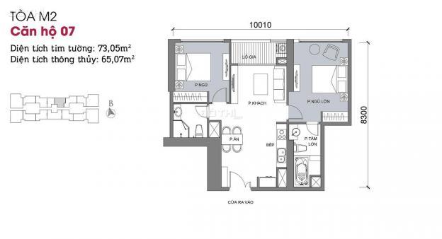 Chính chủ gửi bán căn 2607 tòa M2 chung cư Metropolis, 2PN, 2 WC view đẹp 12882961