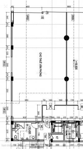 Cho thuê 150m2 sàn VP, giá 300.89 nghìn/m2/th tòa nhà MT Hoàng Văn Thụ, 2 hầm, 11 tầng. DT 20mx25m 12895859